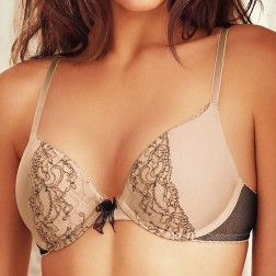 B.Tempt'd B.Dazzling Push Up Bra - Praline/Naturally Nude