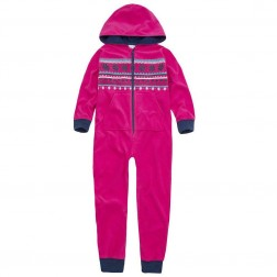 Onezee Fairisle Fleece Onesie - Pink