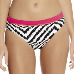 Fantasie Montego Bay Mid Rise Bikini Brief - Black/Cream