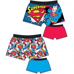 Mens Superman Trunks (2 Pack) - White/Multi