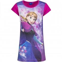 Girls Frozen Anna Snowflake Nightie - Pink