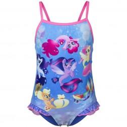 Girls My Little Pony Swimsuit - Blue/Pink