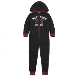 Onezee Logo Fleece Onesie - Black