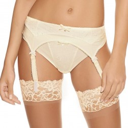 Freya Deco Darling Suspender Belt -  Ivory