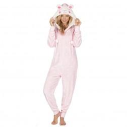Onezee Novelty Flannel Onesie - Pink