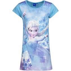 Girls Frozen Elsa Snowflake Nightie - Blue
