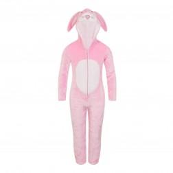Nifty Kids Pink Rabbit Fleece Onesie