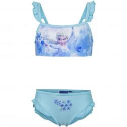 Girls Disney Frozen Elsa Blue Bikini Set