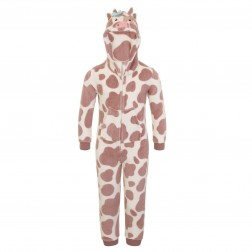 Nifty Kids Cow Print Fleece Onesie
