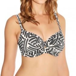 Fantasie San Marino Wrap Front Full Cup Bikini Top - Pewter