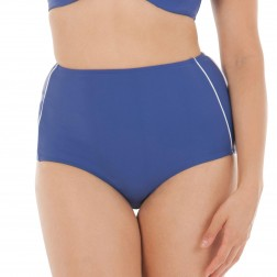 Curvy Kate Sail Away High Waist Brief - Blue/White