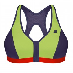 Shock Absorber Active Zipped Plunge Sports Bra - Multi
