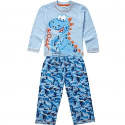 Children's Camouflage Dinosaur Pyjamas - Blue