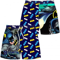 Boys Batman Cartoon/Logo Swim Shorts