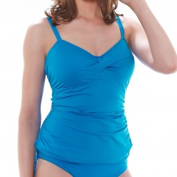 Fantasie Swimwear Versailles Twist Front Tankini Top - China Blue