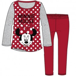 Children's Minnie Mouse Spot Pyjamas - Red/Grey