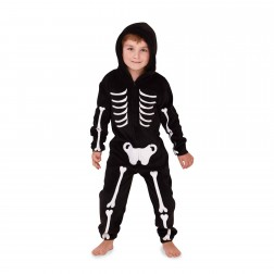 Nifty Kids Skeleton Fleece Onesie