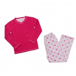 4Kidz Fleece Star Pyjamas - Pink