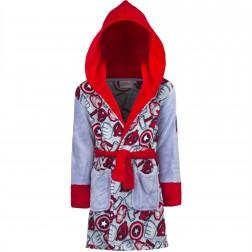 Kids Marvel Avengers Fleece Robe - Grey