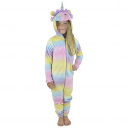 Foxbury Kids Unicorn Onesie - Multi Coloured