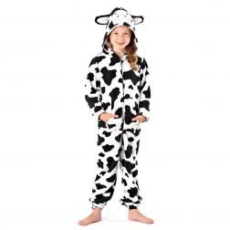 Selena Girl Cow Print Onesie - Black/White