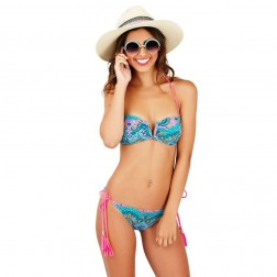 Boutique Paisley Print Bandeau Bikini Set