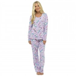 Foxbury Unicorn Print Pyjama Set - Lilac