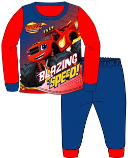 Boys Blaze 'Blazing Speed' Pyjamas - Red/Blue