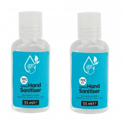 Hand Sanitiser 70% Alcohol Antibacterial 55ml (2 Bottles)