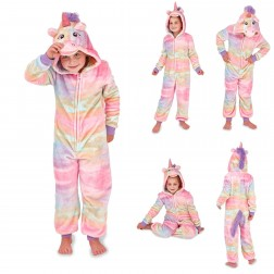 Nifty Kids Rainbow Unicorn Fleece Onesie