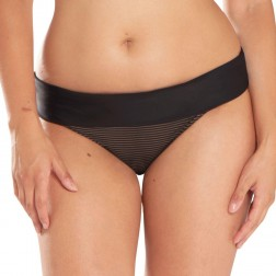 Curvy Kate Onyx Fold Over Bikini Brief - Black Stripe