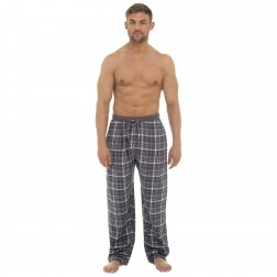 Tom Franks Mens Flannel Check Lounge Pants - Grey