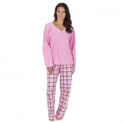 Forever Dreaming Fleece Check Pyjama Set - Pink