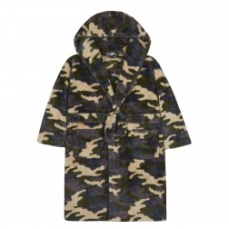 Kids Camo Snuggle Fleece Robe - Green/Camo