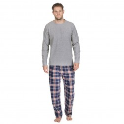 Cargo Bay Mens Microfleece Pyjama Set - Grey