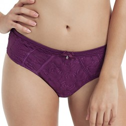 Masquerade Angie Brief - Plum