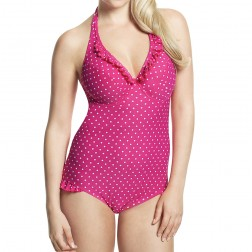 Panache Cleo Betty Halterneck Swimsuit - Pink Spot