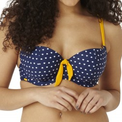 Panache Cleo Leena Padded Balconnet Bikini Top - Heart Print