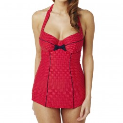 Panache Britt Halterneck Swimsuit - Red