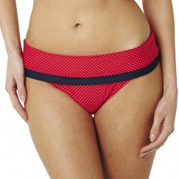 Panache Britt Fold Bikini Brief - Red