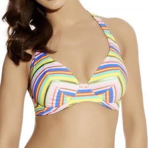 Freya Beach Candy Banded Halter Bikini Top - Pastel