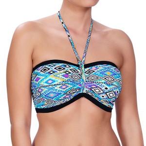 Freya Folklore Bandeau Bikini Top - Multi