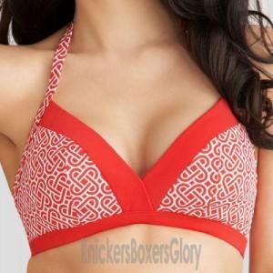 Freya Riviera Soft Triangle Bikini Top - Red