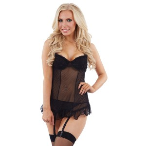 Sunburst Gold Thread Chemise and Suspenders