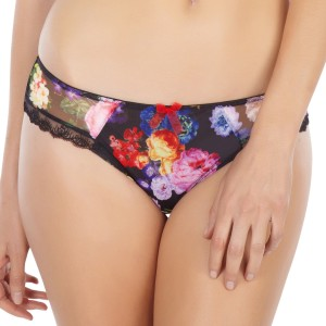 Panache Fern Brief - Black Floral