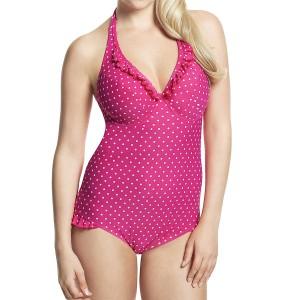 Panache Cleo Betty Halterneck Swimsuit - Pink Spot