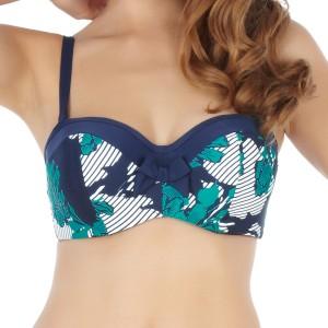 Panache Page Bandeau Bikini Top - Floral Stripe
