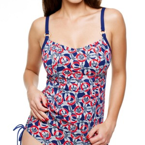 Panache Nancy Tankini Top - Nautical
