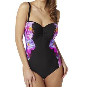 Panache Savannah Bandeau Swimsuit - Floral Print