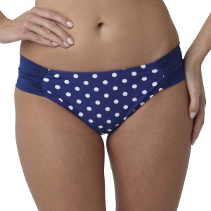 Panache Annalise Gathered Bikini Brief - Cobalt/White